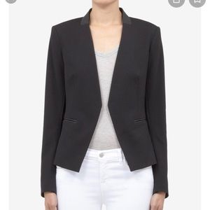 Theory Lanai Black leather Trim blazer 2